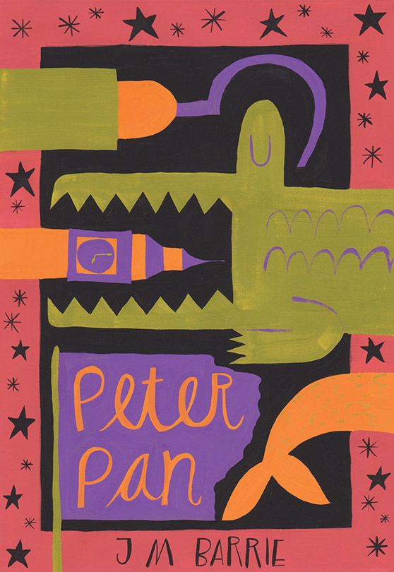 Illustrated Book Cover Generator : Peter pan gillian hibbs illustration